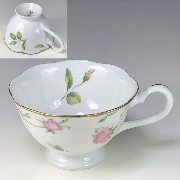 ナルミボーンチャイナ花柄カップC203