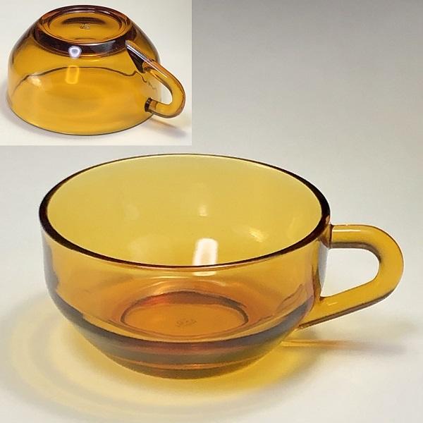 アデリアアデラックス飴色ガラスカップ
