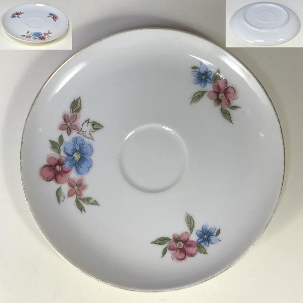 昭和レトロ花柄ソーサーP461