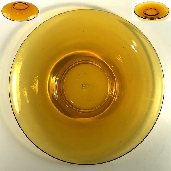 アデリアアデラックス飴色ガラスソーサーP513