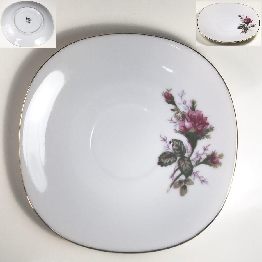 昭和レトロ花柄薔薇柄ソーサーP355