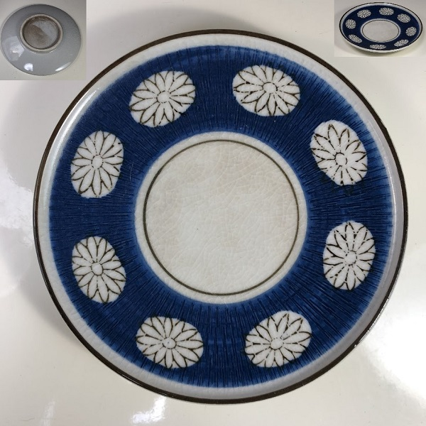 菊紋ソーサーP356