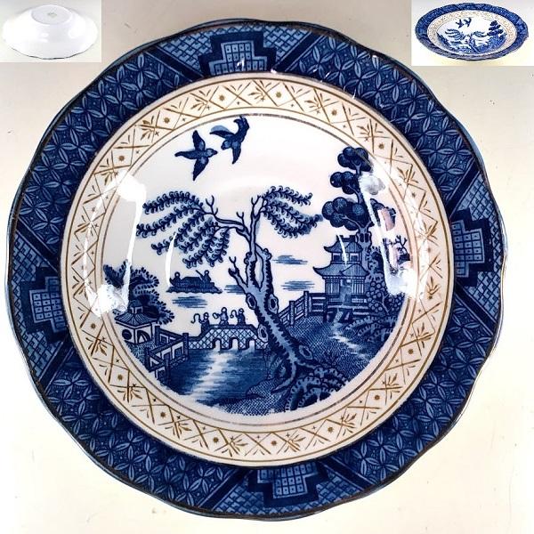 日本硬質陶器ニッコー山水ウイローソーサー