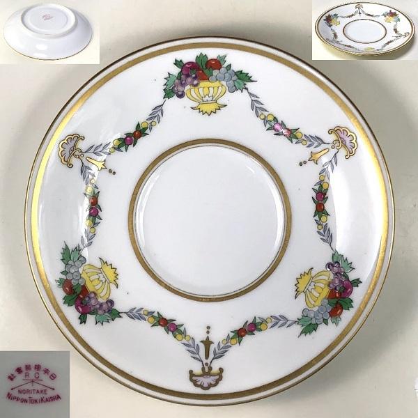 オールドノリタケ日本陶器会社RCソーサーP478