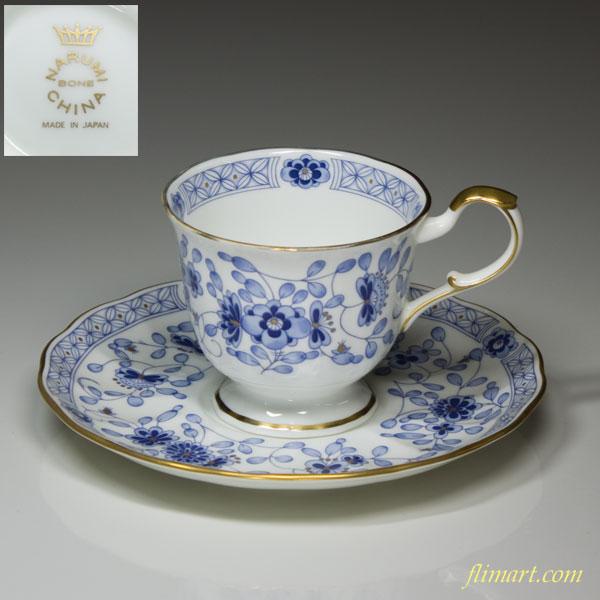 ナルミボーンチャイナミラノコーヒーカップ&ソーサー
