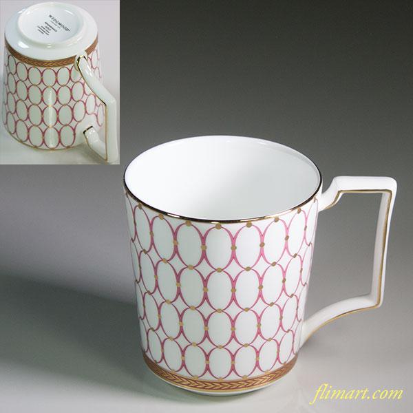ウェッジウッドルネッサンスゴールドピンクマグカップ