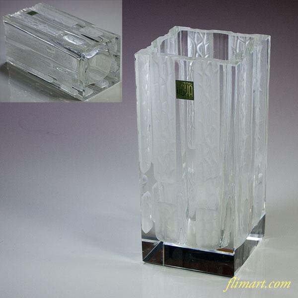 保谷HOYAクリスタル雪窓花瓶