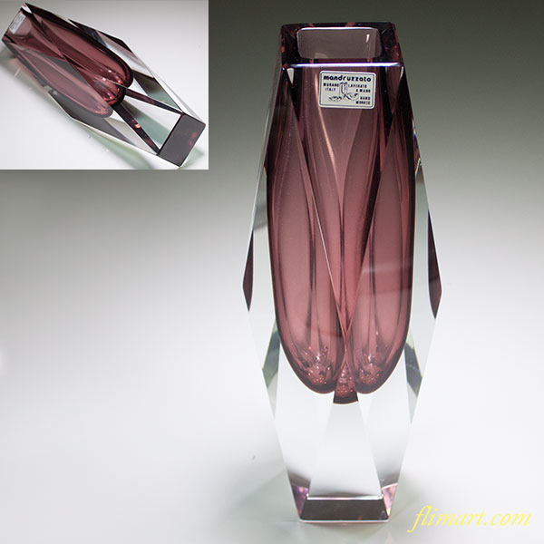 MURANOムラーノクリスタルガラス花瓶