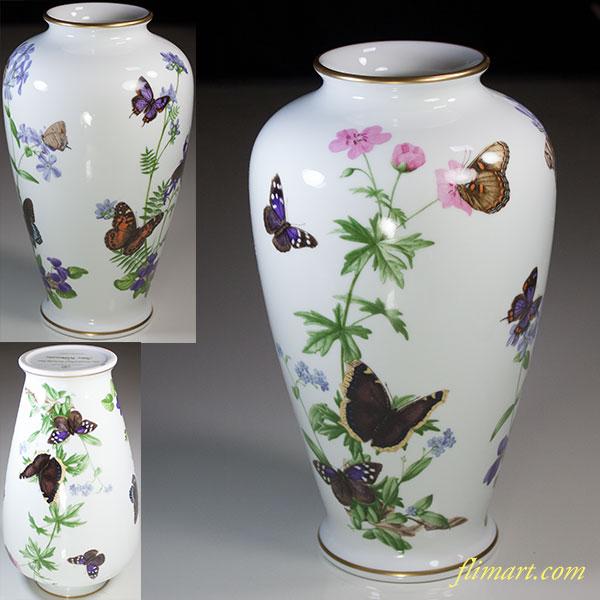 フランクリンポーセリン花蝶花瓶