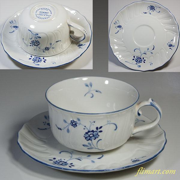 ビレロイ&ボッホニッコーEdel Blumeカップ&ソーサー