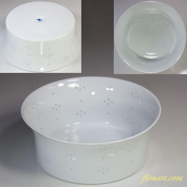 白山陶器蛍星華18cmボール