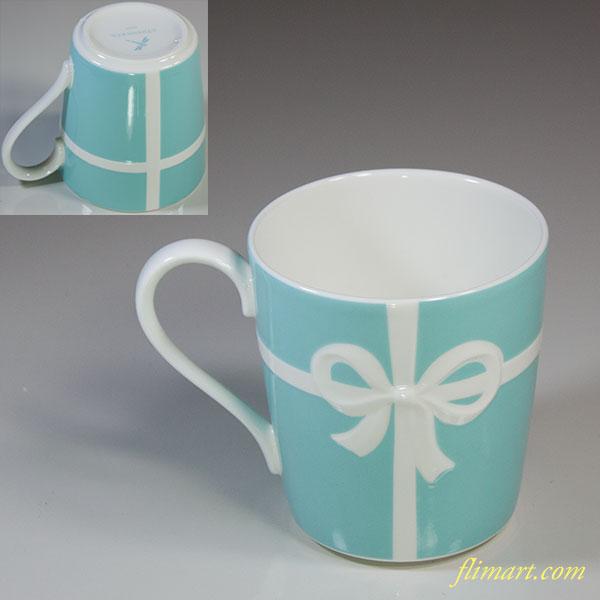 ティファニーブルーリボンマグカップ