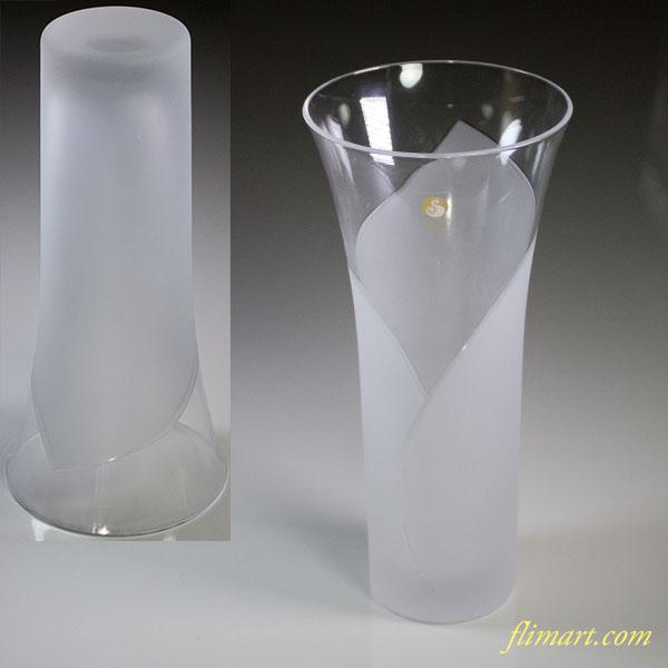 佐々木クリスタルグラスカーラーリリー花瓶