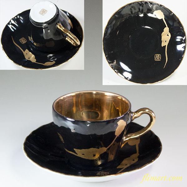 金彩デミタスカップ&ソーサーT1763