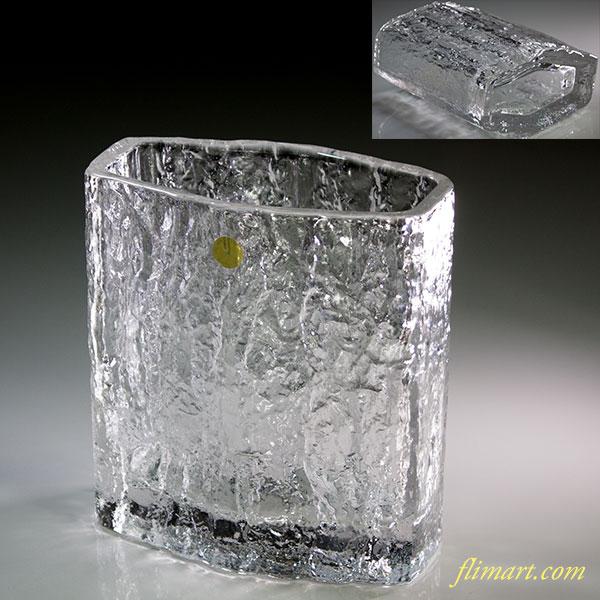 保谷クリスタルガラス樹霜花瓶