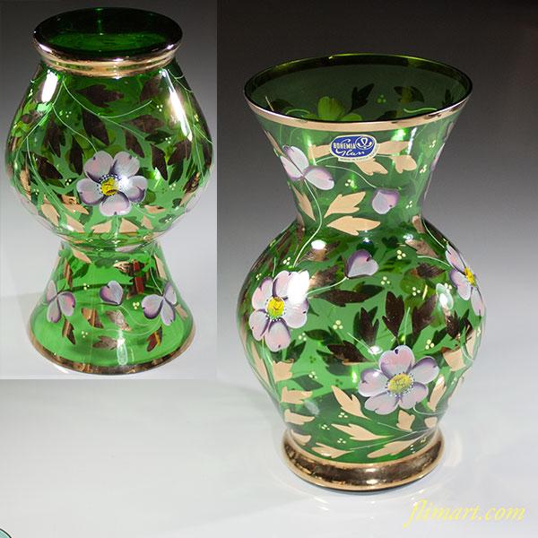 ボヘミアカリグラス花瓶
