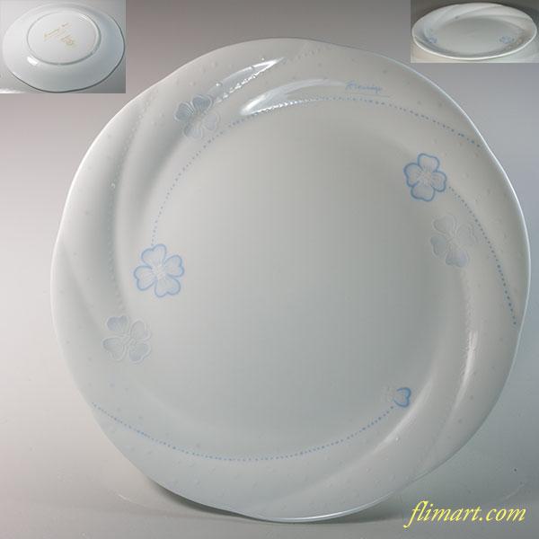 ノリタケETOILE FILANTE18cmプレート青