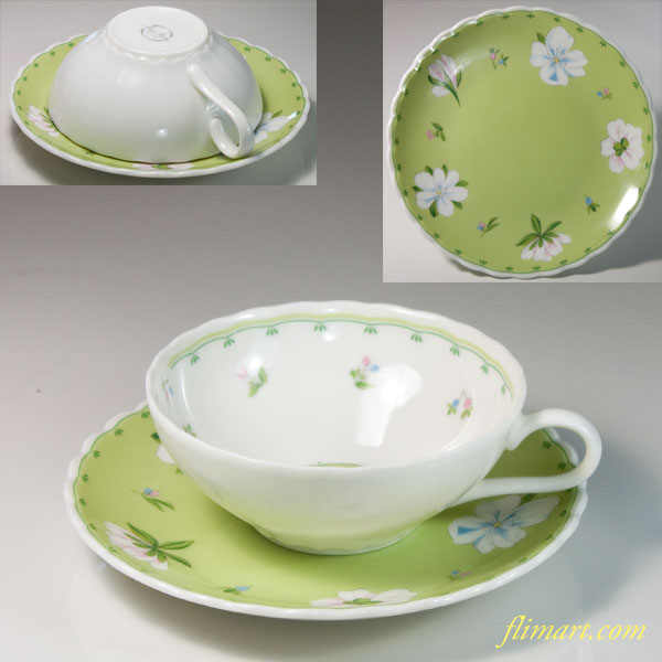 HOYA保谷New Iveryカップ&ソーサーT1858