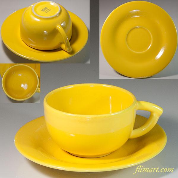 SiC黄色カップ&ソーサー