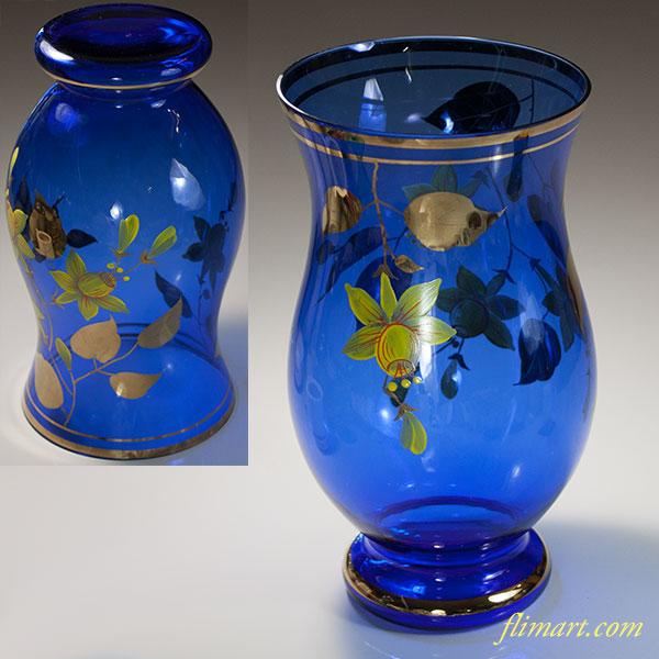 ボヘミアガラス花瓶T1884