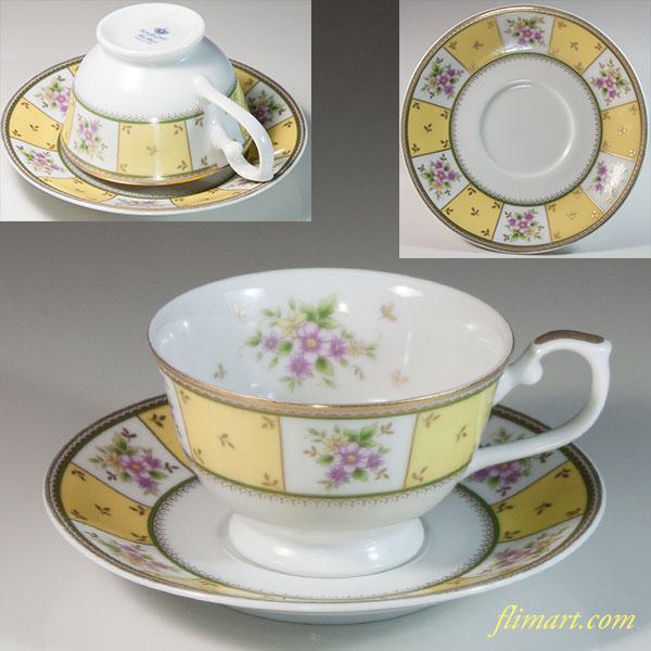ナルミカップ&ソーサー花柄T1883