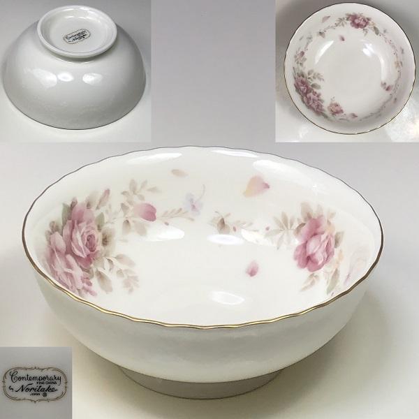 ノリタケ薔薇柄コンテンポラリー小鉢