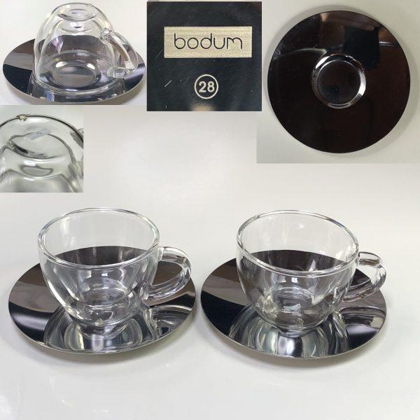 ボダム耐熱ガラスエスプレッソカップ&ソーサー2客セットT2024