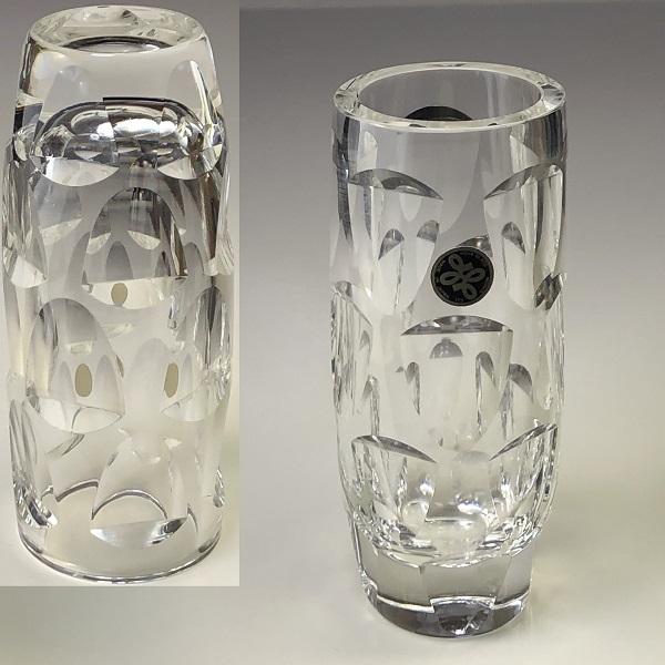 HOYA保谷クリスタルガラス花瓶T2028