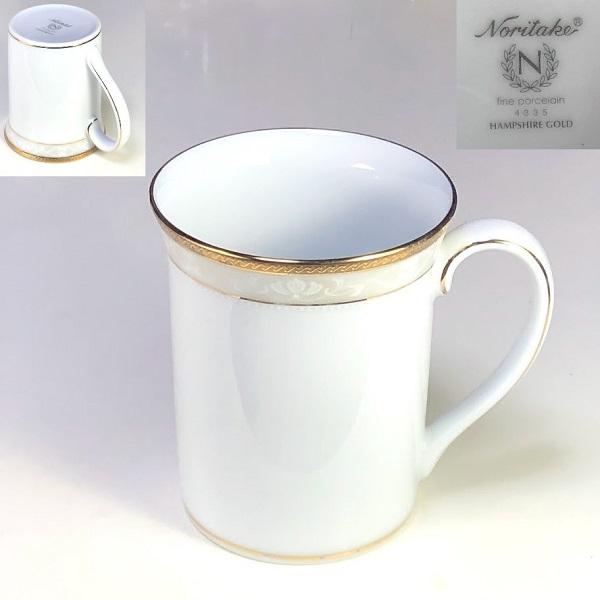 ノリタケハンプシャーゴールドマグカップ