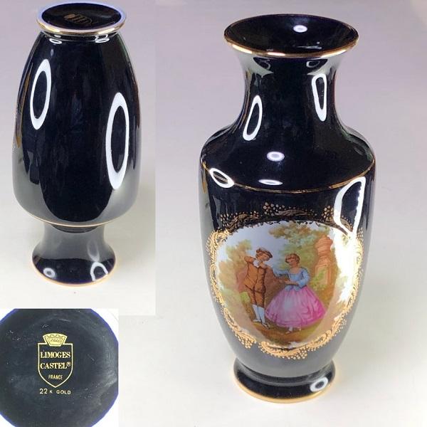 LIMOGES CASTEL, リモージュ花瓶T2201