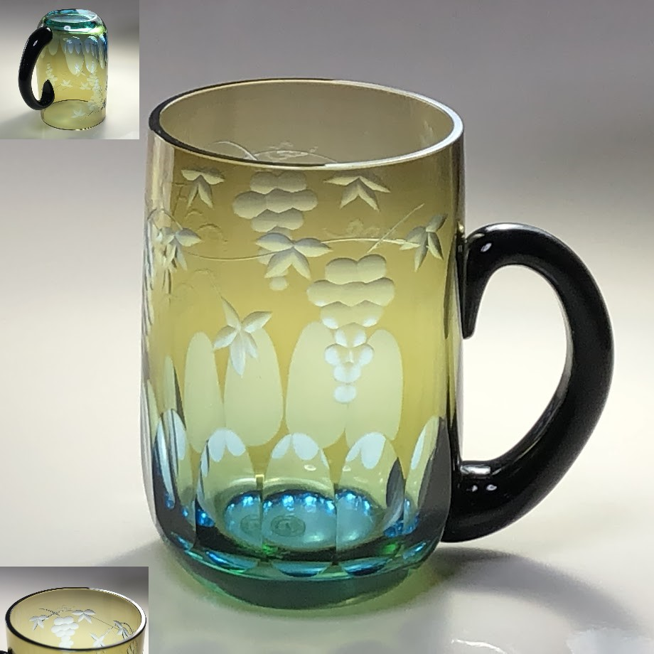 T1986北一硝子ガラス切子マグカップ