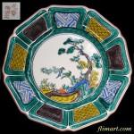 九谷焼吉田屋様式陶宝堂飾皿