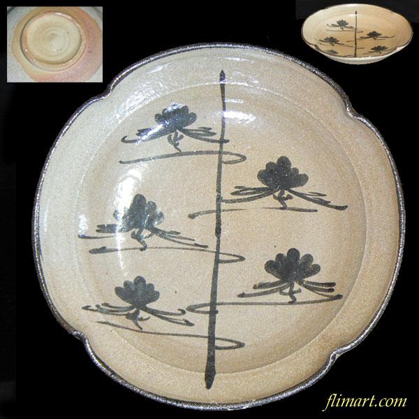 松柄盛り皿23cm