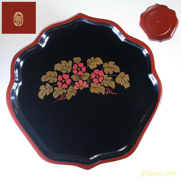 象彦菓子盆木製漆器