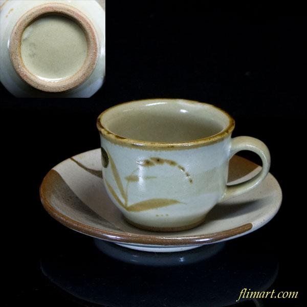 唐津焼碗皿カップ&ソーサー