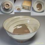 清水日呂志駕洛窯刷毛目茶碗