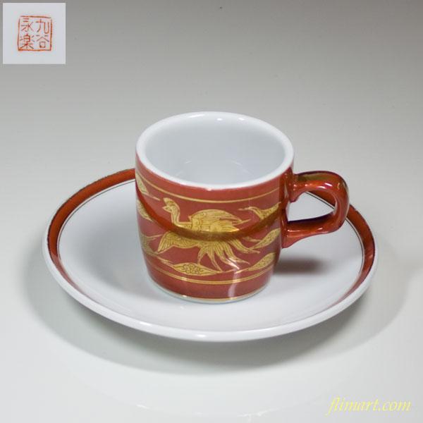 九谷焼永楽碗皿カップ&ソーサー