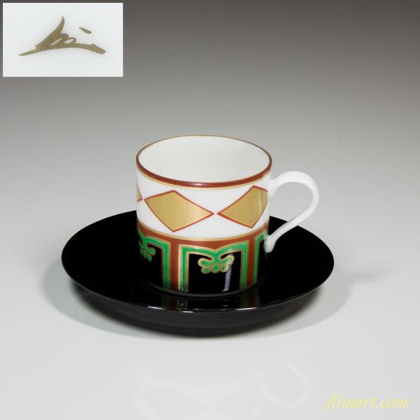 蔵珍色絵金菱碗皿