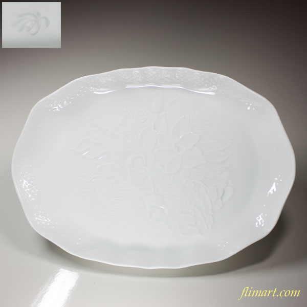 香蘭社陽刻楕円皿