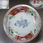 伊万里赤絵花鳥桐紋鉢