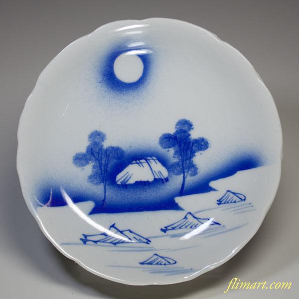 染付小皿W1543