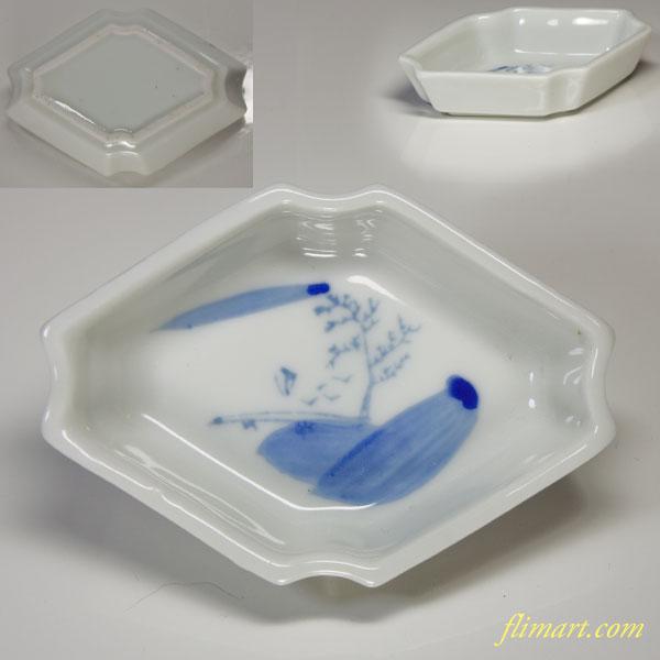 染付豆皿W1799