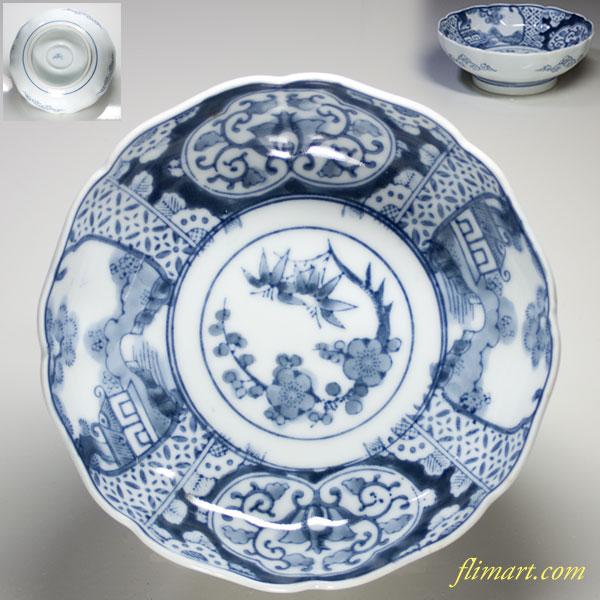 染付松竹梅唐草膾皿W1807