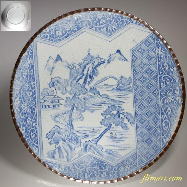 染付十寸大皿W1868