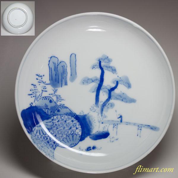 染付五寸皿W1841