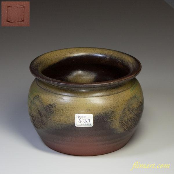 常滑正弥陶房灰釉茶こぼしW2008