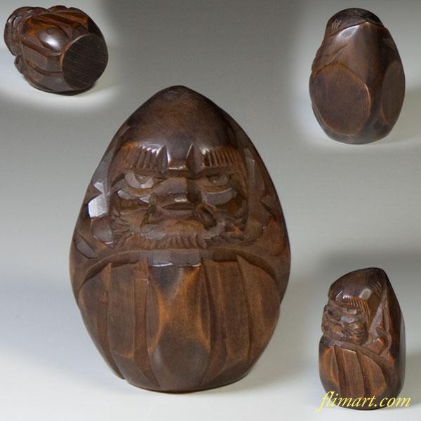 木彫の達磨