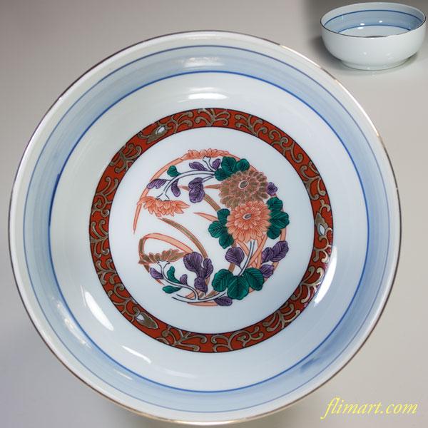 色絵菓子鉢W2145