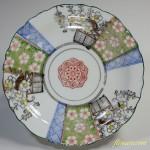 色絵梅桜六寸皿
