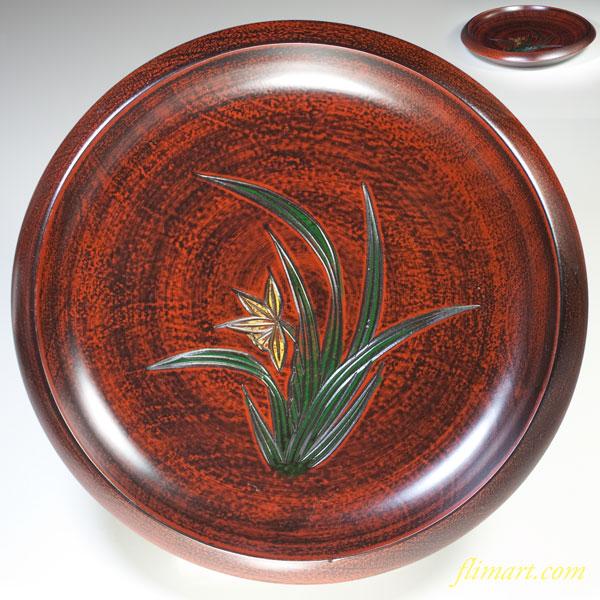 木製漆器菓子鉢W2178